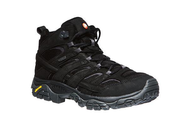 Merrell Moab 2 Smooth Mid WP Herren Trekkingschuhe Schwarz Schuhe
