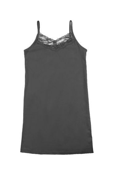 ARIZONA Girls Spaghetti Strap Dress with Lace Black