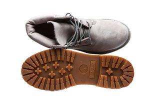 Timberland Premium 6-Inch Damen Echtleder Stiefel Grau Schuhe – Bild 6