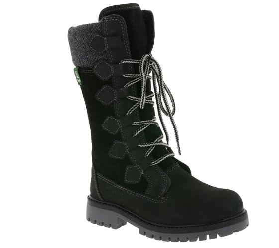 Kamik Waterproof Kids Autumn Boots with Feeding Black