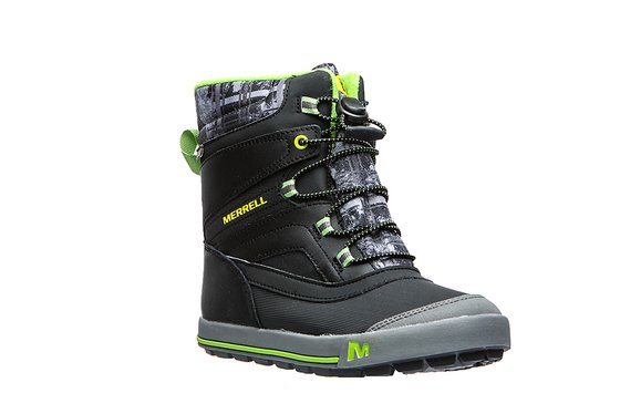 MERRELL Kinder Winterstiefel Snow Bank 2 WP Schwarz