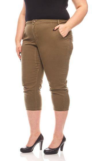 rick cardona modische Casual-Chinohose Kurzgröße Große Größe Khaki
