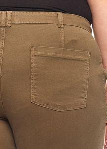 rick cardona modische Casual-Chinohose Kurzgröße Große Größe Khaki – Bild 3