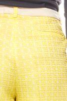 PATRIZIA DINI Damen-Hose Jaqcuardhose mit Bügelfalten Kurzgröße Gelb – Bild 3