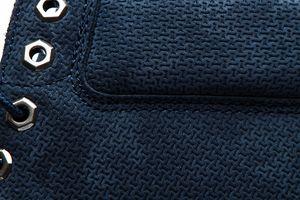 Timberland wasserdichte Herren Echtleder-Stiefel Premium 6 Inch Blau Schuhe – Bild 5