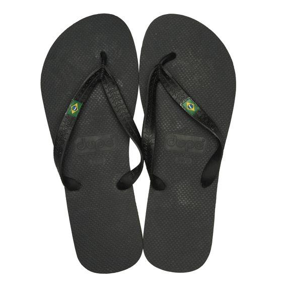 dupé Zehentrenner sommerliche Badelatschen Brasil Schwarz Schuhe
