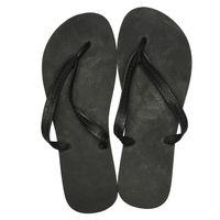 dupé Zehentrenner klassische Badelatschen Schwarz Schuhe