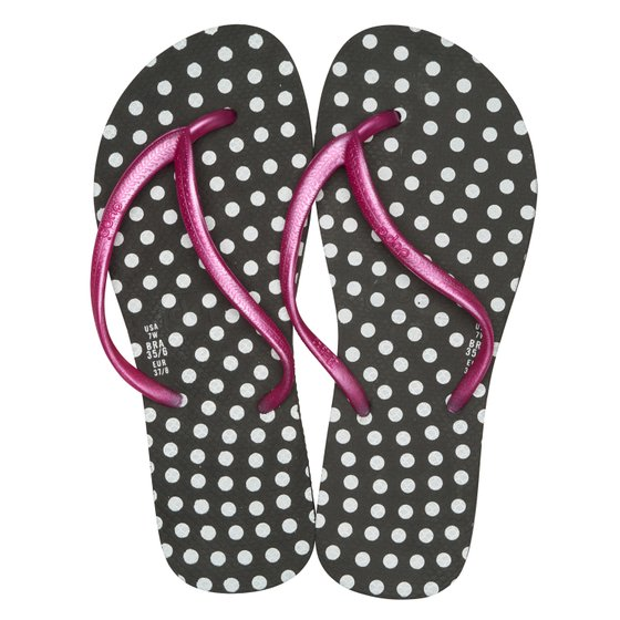 dupé toe dotted dotted beach shoes black