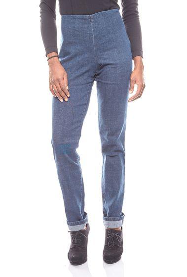 Cheer schlichte Damen Jeans-Leggings Jeggings Langgröße Blau