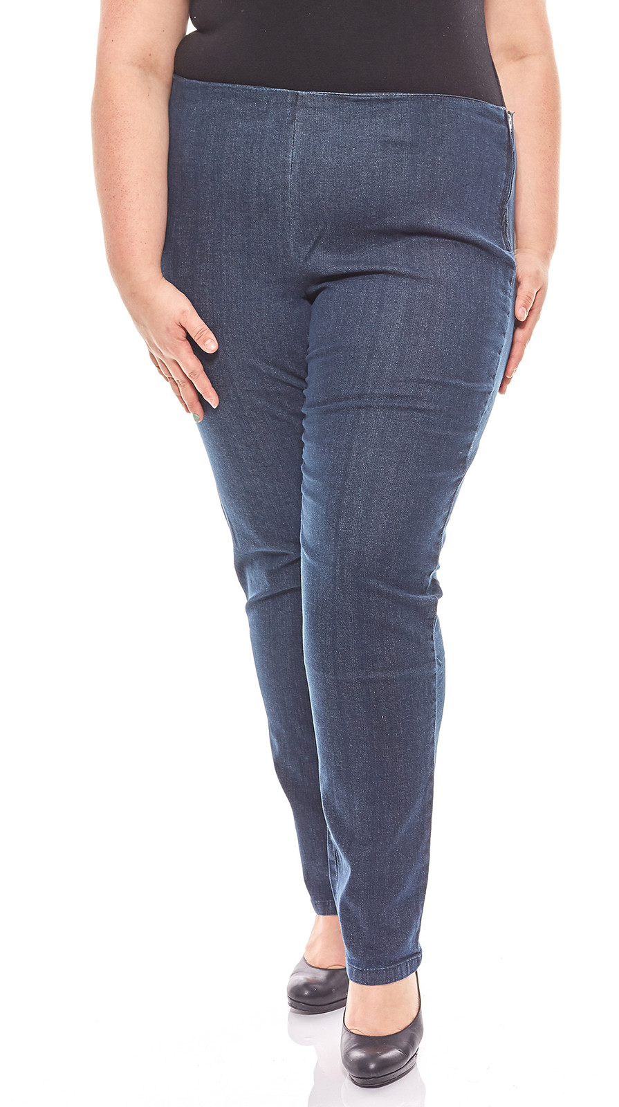Cheer schlichte Damen Jeans Leggings Jeggings Langgröße