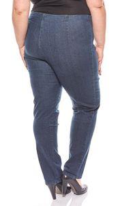 Cheer schlichte Damen Jeans-Leggings Jeggings Langgröße Große Größen Blau – Bild 4