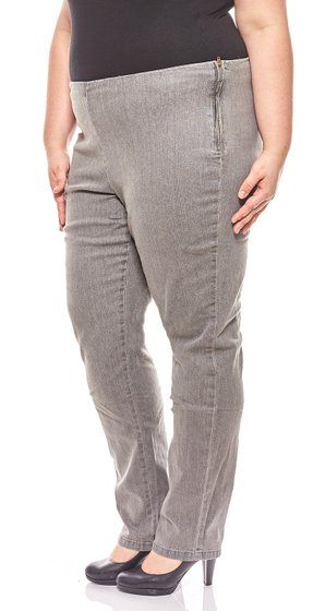 Cheer Womens Simple Jeggings Long Size Large Size Gray