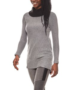 vivance collection strukturierter Damen Rollkragen-Pullover Grau