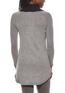 vivance collection strukturierter Damen Rollkragen-Pullover Grau – Bild 4