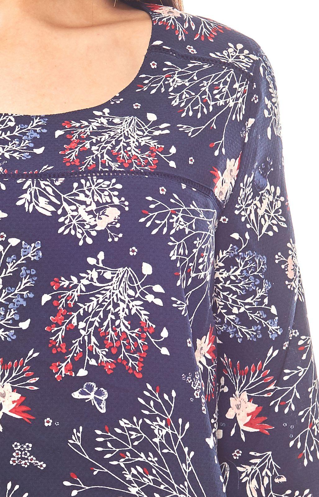 in weiß hell blau gestreift von Zhenzi Gr 48 Camenbluse Tunika Bluse