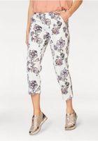 BOYSEN´S feminine Damen Capri-Hose mit floralem Print Weiß 001