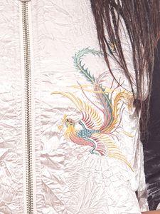 Aniston Damen Satin-College-Jacke im Asia-Stil Rosa – Bild 3