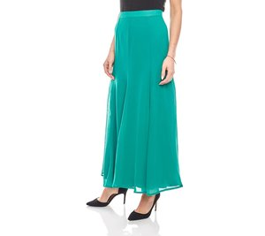 ashley brooke elegant schwingender Damen Chiffon-Rock Grün