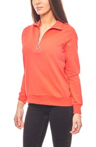 Noisy may cooles Damen Sweatshirt mit Reißverschluss Rot