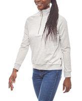 Noisy may stylischer Damen Pullover mit Reißverschluss Hellgrau 001