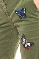 rick cardona modische Damen Boyfriendhose mit Aufnähern Kurzgröße Khaki – Bild 3