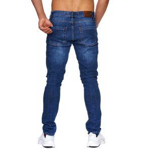 Tazzio Fashion Herren-Jeans Slim Fit Hose Used Look Denim – Bild 4