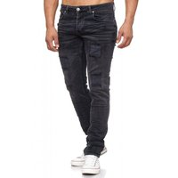 Tazzio Fashion Herren-Jeans Slim Fit Hose Used Look Denim – Bild 11