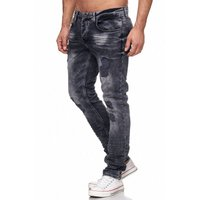 Tazzio Fashion Herren-Jeans Slim Fit Hose Used Look Denim – Bild 9