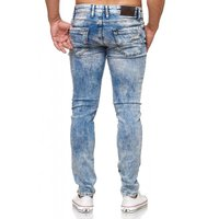Tazzio Fashion Herren-Jeans Slim Fit Hose Used Look Denim – Bild 19