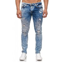 Tazzio Fashion Herren-Jeans Slim Fit Hose Used Look Denim – Bild 18