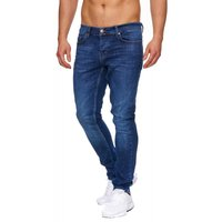 Tazzio Fashion Herren-Jeans Slim Fit Hose Used Look Denim – Bild 2