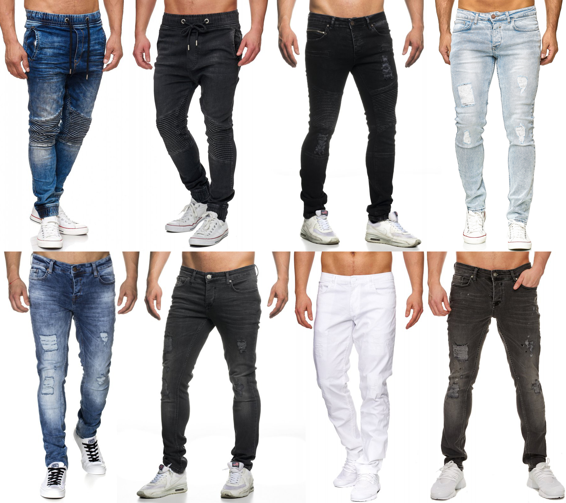 Tazzio Fashion Hose Herren Jeans Slim Fit Used Look