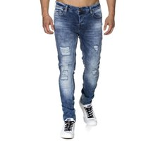 Tazzio Fashion Hose Herren-Jeans Slim Fit Used Look – Bild 14
