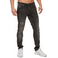 Tazzio Fashion Hose Herren-Jeans Slim Fit Used Look – Bild 3