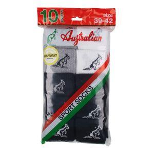 10er Pack Australian Herren Socken Schwarz Mix