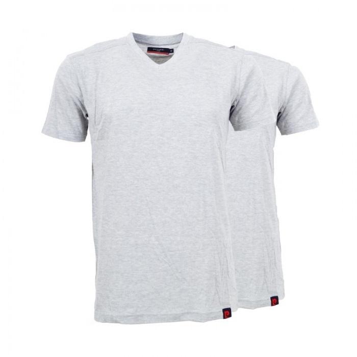 wholesale dealer 2fd22 d6c6f Details zu 2er Pack Pierre Cardin Herren T-Shirt Grau