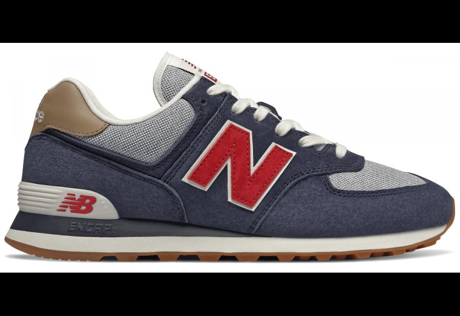 sale retailer 7c427 fc4bf Details zu New Balance coole Schuhe Herren Sneaker ML574 Turnschuhe Blau  Freizeitschuhe