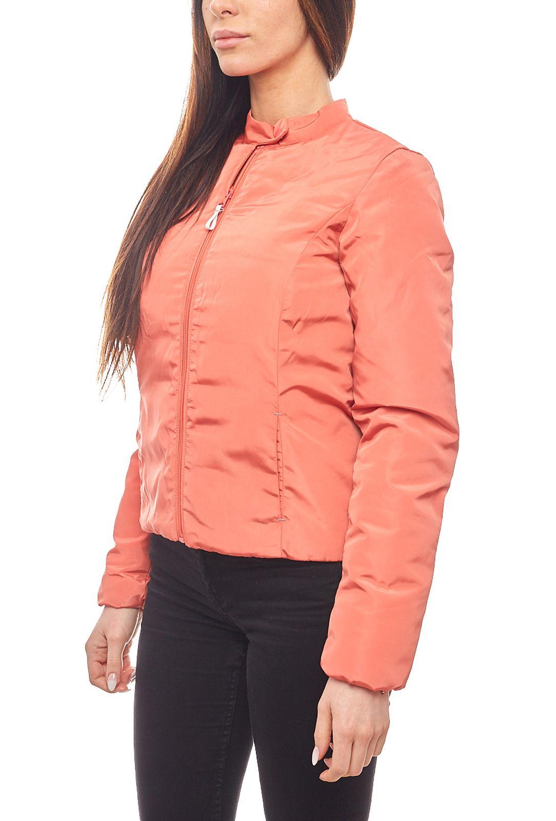 13054332011f Details zu AjC leicht wattierte Outdoor Damen-Jacke Bikerjacke in Kurzform  Übergangsjacke