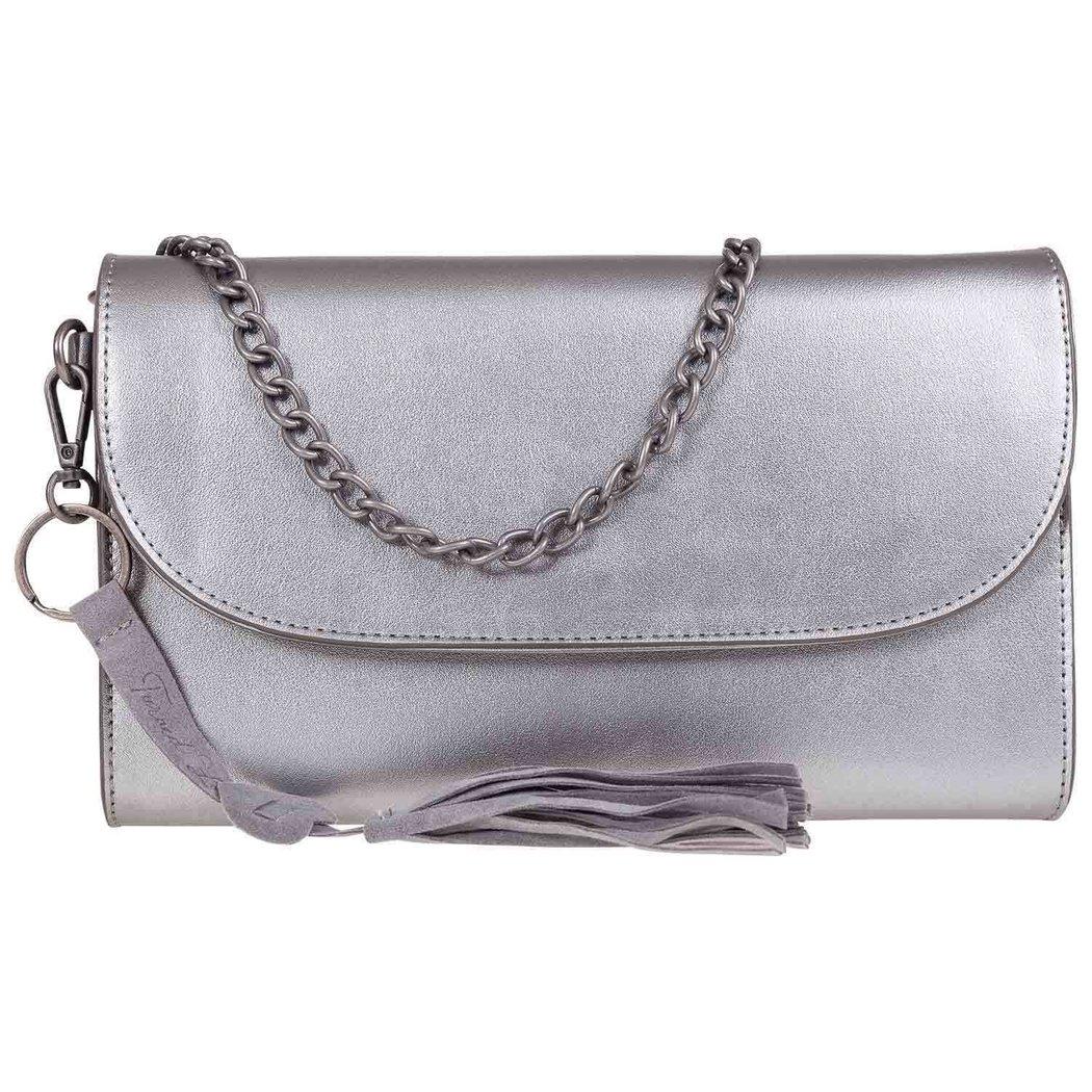 0e6b8f24fbd25 Turned Love Women s Crossover Bag Silver