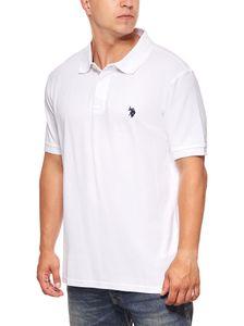 U.S. POLO ASSN. klassisches Herren Poloshirt Polohemd Weiß
