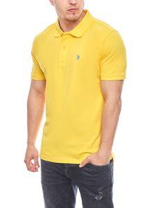 U.S. POLO ASSN. Polohemd knalliges Herren Poloshirt Gelb – Bild 1