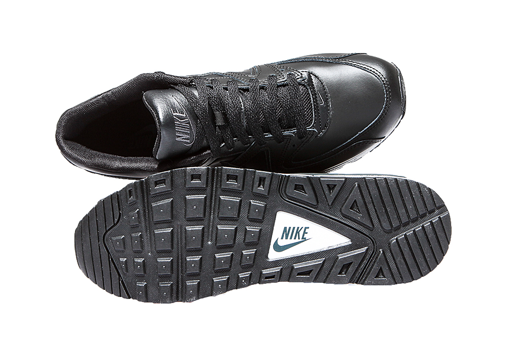 best sneakers e8e67 37975 NIKE AIR Max Command Modern Men s Real Leather Sneaker Black