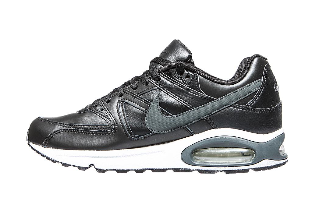 sports shoes 66814 b6f41 NIKE AIR Max Command moderne Herren Echtleder Sneaker Schwarz – Bild 4