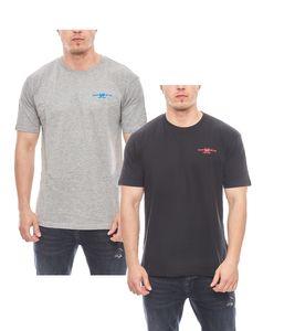 2er Pack HARVEY MILLER POLO CLUB Baumwoll T-Shirt schlichte Basic Herren T-Shirts Grau/Navy