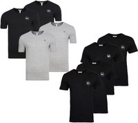 4er Pack HARVEY MILLER POLO CLUB Shirt Basic Herren T-Shirts