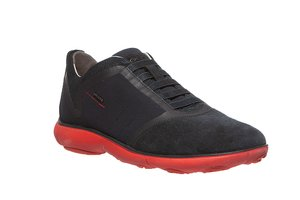 GEOX Schuhe coole Herren Slip-On-Sneaker Nebula Schwarz – Bild 1