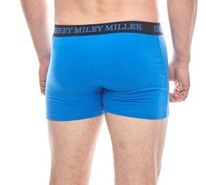 HARVEY MILLER POLO CLUB 2er Pack Unterhose Herren Boxershorts Schwarz/Blau – Bild 5