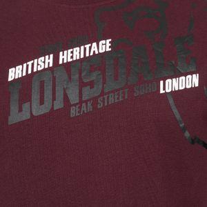 Lonsdale T-Shirt Herren Vintage-Bordeaux