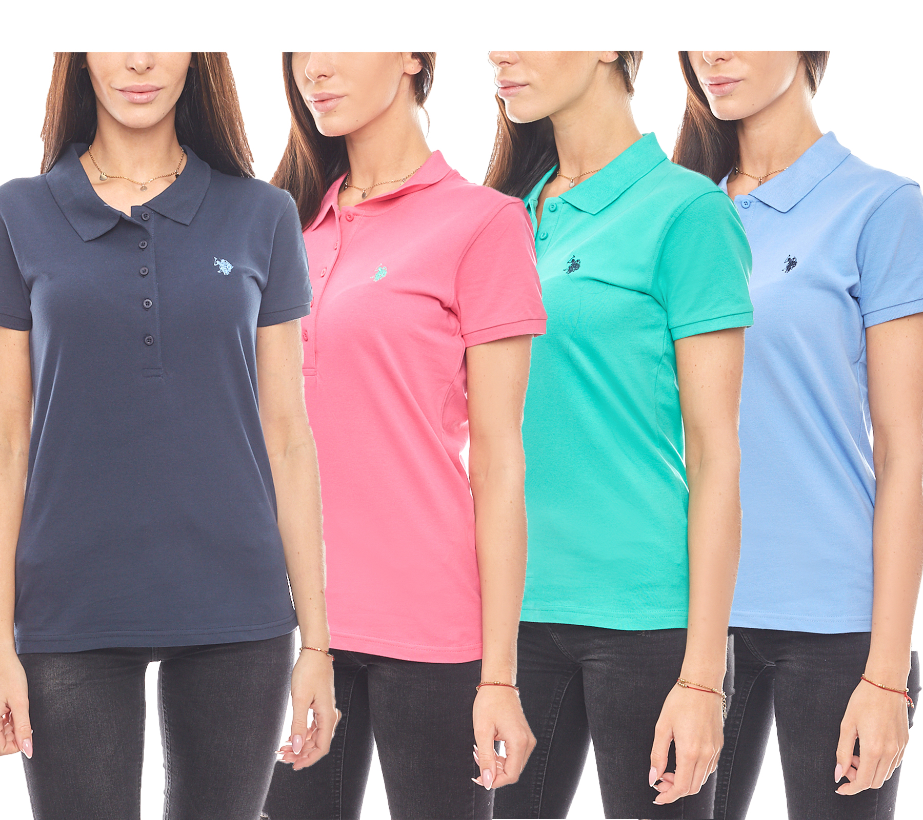 uk availability 1cbb0 995ef U.S. POLO ASSN. elegant ladies polo shirt summer polo shirt | Outlet46.de -  B2B