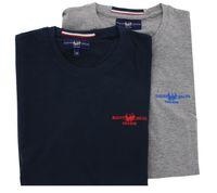 2er Pack HARVEY MILLER POLO CLUB T-Shirt klassische Herren Baumwoll-Shirts T-Shirts – Bild 3